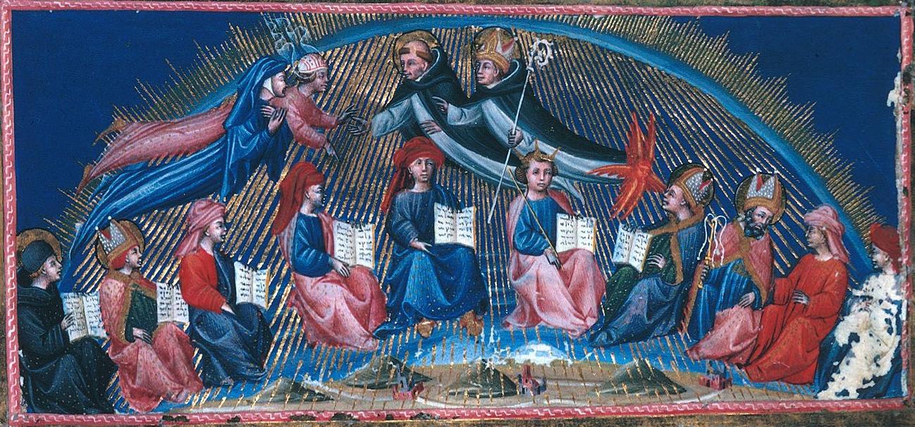 """Paradise"" (Par. 10) by Giovanni di Paolo, 1444-ca. 1450, illuminated manuscript."